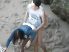 amateur, fetish, public, homemade, voyeur, peeper, hidden, beach, outdoor, teen, teenager, sex, fuck, doggy, cum, cumshot