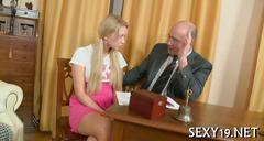 Lusty doggy style drilling for the bad student