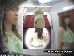 Changing underwear voyeur fitting room hidden cam