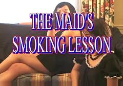 A hot mistress learns a teen how to smoke right by porn#