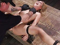 blonde, bondage, bdsm, babe, torture, punishment, breathplay, fingering, pierced tongue, clothespins, device bondage, kink, lilly ford