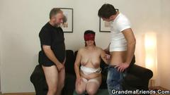 Old couple let a fit lad join them