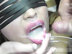 Incognito swallows 61 big mouthful cum loads