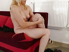 milf, blonde, handjob, big cock, deepthroat, natural tits, reverse cowgirl, mature nl, calina