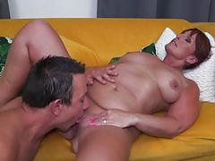 Chubby mature fucks with her neighbour