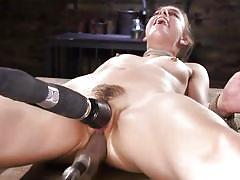 Horny kristen scott and her love for fucking machines