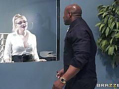 milf, handjob, black, big tits, interracial, blowjob, office sex, titjob, bbc, big tits at work, brazzers, prince yashua, angela white