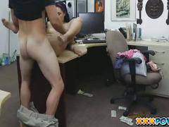 A cute latin chick gets fucked hard in pawn shop