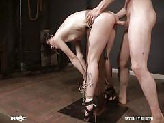 Lydia black gets fucked while being tied
