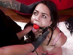 bdsm, big ass, babe, big cock, whipping, punishment, domination, tattooed, sex slave, ball gag, metal hook, nipple clamps, sex and submission, kink, alina lopez, tommy pistol
