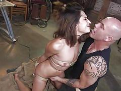 bdsm, babe, domination, vibrator, face fuck, brunette, from behind, ball gag, anal hook, device bondage, rope bondage, sex and submission, kink, derrick pierce, isabella nice