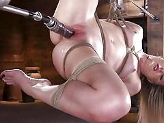 Double bdsm pleasure for an inexperienced babe
