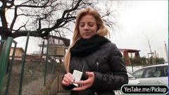 Amateur blonde eurobabe cherie banged in public toilet