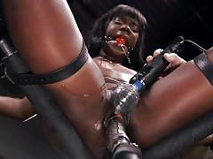 bondage, bdsm, spanking, ebony, interracial, domination, fetish, dildo, vibrator, tattooed, ball gag, nipple clamps, device bondage, kink, ana foxxx, the pope