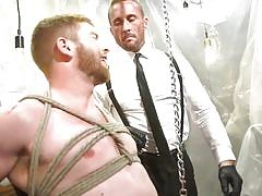 Obedient gay slave waiting for his master's order