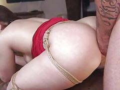 anal, bdsm, big ass, submissive, babe, high heels, from behind, ball gagged, rope bondage, sex and submission, kink, mr. pete, kimber woods