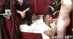 Boy sucking stripper at party segment feature 1