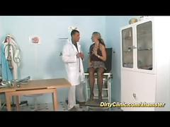 Dirty clinic sex with busty babe