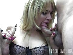 Alina swallows 65 huge mouthful cum loads