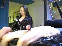 Ruined orgasm: cum with pain