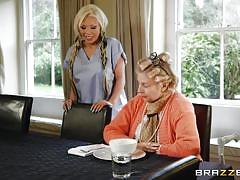 milf, tattoo, blonde, big tits, nurse, huge cock, pussy licking, on table, doctor adventures, brazzers, danny d, barbie sins