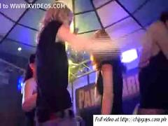 Girls blowjob hard cocks on party