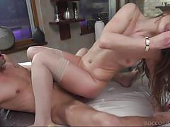 threesome, handjob, babe, big cock, blowjob, from behind, ball sucking, cock riding, mmf, rocco siffredi, fame digital, lutro, nicole pearl, johnny pag
