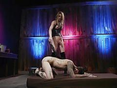 Dominated and punished by a horny tranny