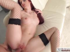 Tall girl mira's pussy is pounded and filled with cum