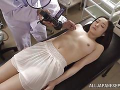 Beautiful japanese milf being inspected