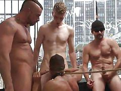 whipping, tied, blindfolded, gay blowjob, gay anal, gay group sex, gay gang bang, humiliated in public, bound in public, kink men, brock avery, jessie colter