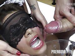 Victoria swallows 81 huge mouthful cum loads