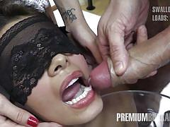 Victoria swallows 81 huge mouthful cum loads