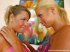 Hot blonde german lesbian sisters