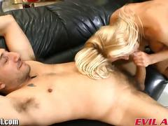 Busty blonde ass rammed in a sex shop