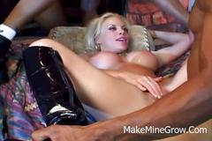 Amazing blonde milf double dicked by mandingos