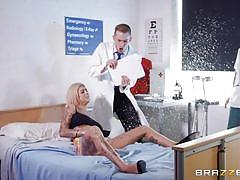 blonde, threesome, big ass, big tits, babe, doctor, blowjob, huge cock, watching, tattooed, doctor adventures, brazzers, danny d, bonnie rotten