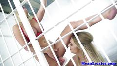 Lezdom busty lezzies jail cell oral fun rules
