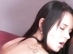 Shootourself mia manarote enjoy big cock in her tight pussy on the sofa
