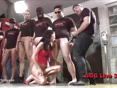 Hardcore german bukkake orgies
