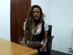 Keisha kane gives a harsh handjob