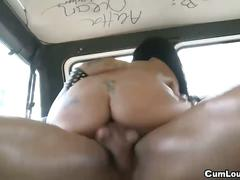 Latina iris cool fucked hardcore inside a van