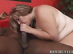 Hot bbw dani sucks cock and gets fucked
