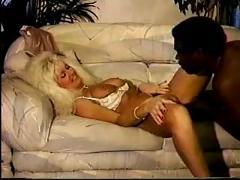 Blonde cougar gets some big black cock