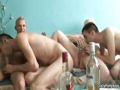 Crazy college guys having drunk sex.