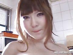 Busty asian having fun