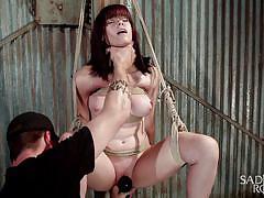 milf, bdsm, big tits, redhead, vibrator, fingering, tied up, rope bondage, sadistic rope, kink, katt anomia