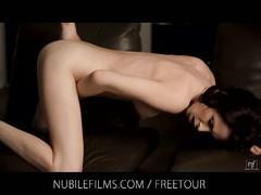 Aiden ashley masturbates her horny pussy