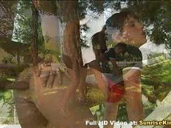 Cute teen fucked in the park