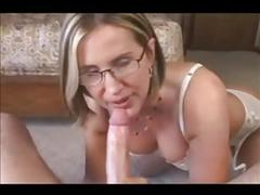 Submissive wife on the bed